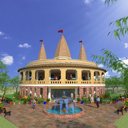 Artistic Impression of Maa Kali Temple