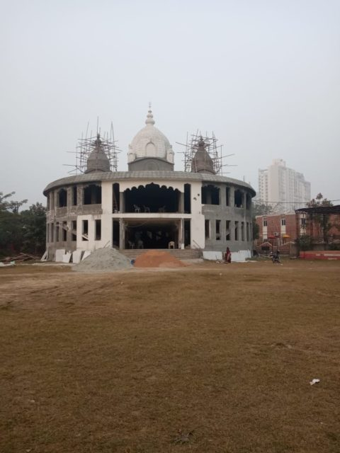 Greater Noida Kalibari Temple (Under Construction) - Wide view