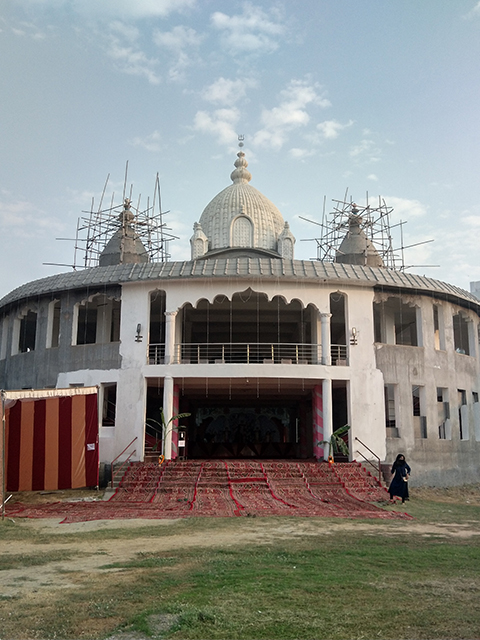 Temple structure as on Oct 2020